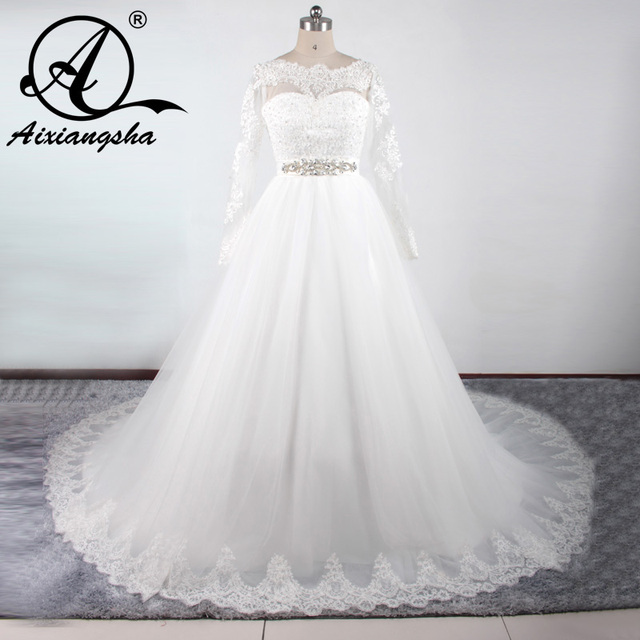 Gorgeous Plus Size ball gown Wedding Dress White sequined Straps ...