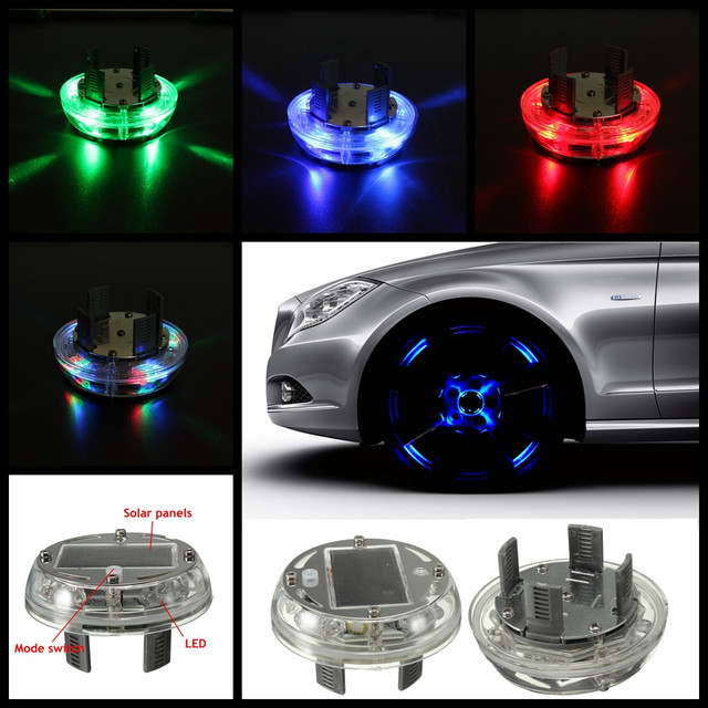Led Per Auto Tuning.Us 8 62 36 Off 4 Modes 12 Led Stunning Waterproof Solar Car Tuning Aas Nozzle Cap Lamp Rim Light Wind Fire Wheels Led Flash Lamp Tyre Light In Car