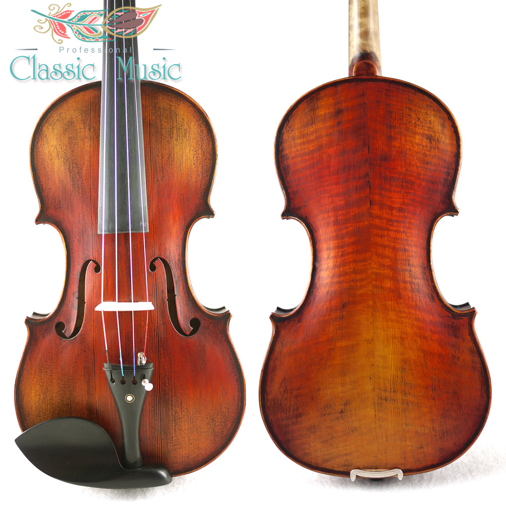 Copy of 1715 Stradivarius Violin#1673 , Handmade Violin Oil Varnish,Advanced Level, Siberian Spruce ,Rich tone austrian spruce ch j b collion mezin copy french master violin no 1408 nice sound antique violin100% handmade