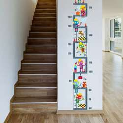 Горячие поделки ПВХ мультфильм высота измерительная шкала рост График Съемный стены наклейки для детей Детская Спальня Декоративные