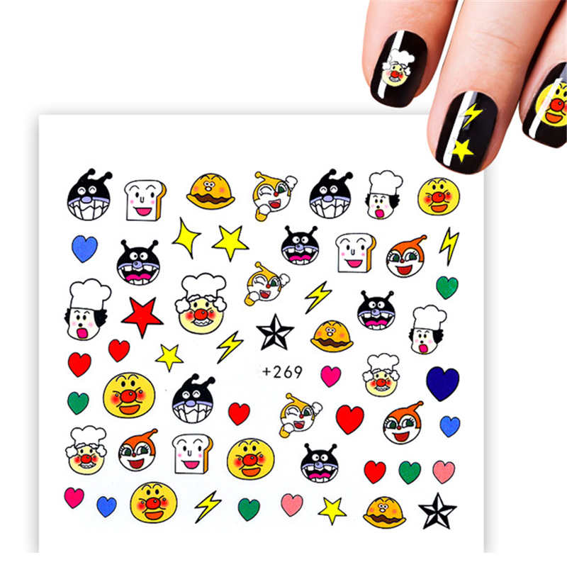 Pegatinas De Agua De Oso De Dibujos Animados Kawaii Nail Art Decoración De Manicura Letras En Envolturas De Uñas Consejos Para El Diseño De Tatuajes