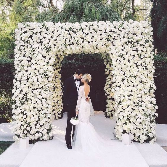 SPRFree Shipping-fashion 10pcs/lot Artificial silk rose with green flower wall backdrop arch floral wedding event decoration