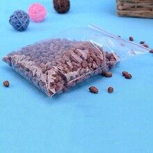 100pcs/pack Jewelry Ziplock Zip Zipped Lock Reclosable Plastic Poly Clear Bags