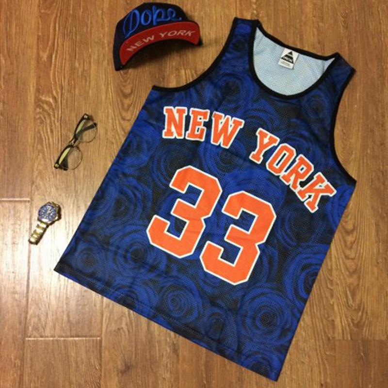 56bc365e1c72 Summer Style Harajuku Women Men Red Rose Flowers No.23 Michael Jordan  Letter Printed Gym Couple Mesh Basketball Jersey Tank Tops-in Tank Tops  from Women s ...
