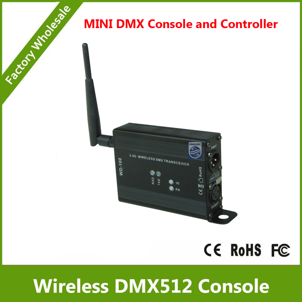 DHL Free Shipping  2.4G Wireless DMX controller and  wireless dmx control console two function dhl free shipping dmx wireless module dmx wireless pcb