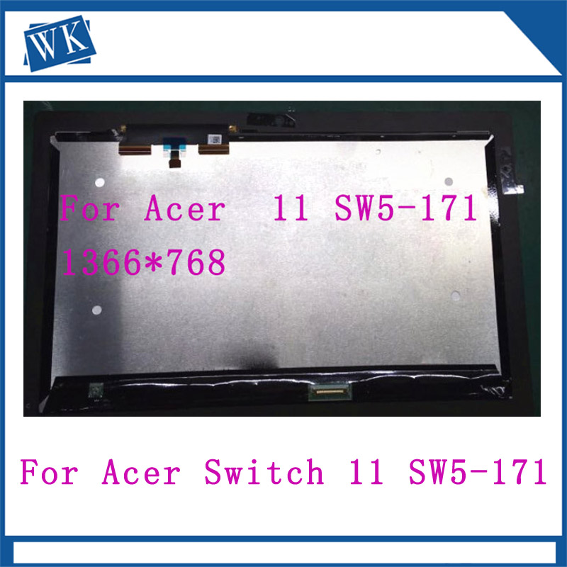 For Acer Aspire Switch 11 SW5-171 SW5-171P 1366x768 Replacement LCD Display Touch Screen Assembly 11.6-inch Black for LaptopFor Acer Aspire Switch 11 SW5-171 SW5-171P 1366x768 Replacement LCD Display Touch Screen Assembly 11.6-inch Black for Laptop