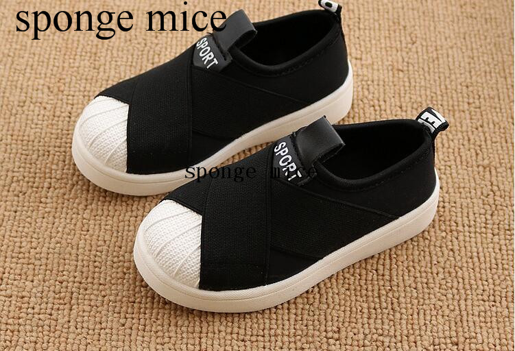2017 sponge mice new elastic cloth casual shoes girl cross straps shell head board shoes breathable