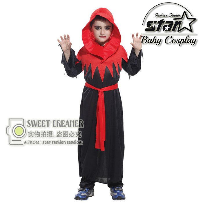 Kids Vampire Costume Children Blood Print Halloween Costume Fancy Carnival Clothing Boys Cosplay for Festival Party Outfit clear food grade reusable blood energy drink bag halloween props bag vampire
