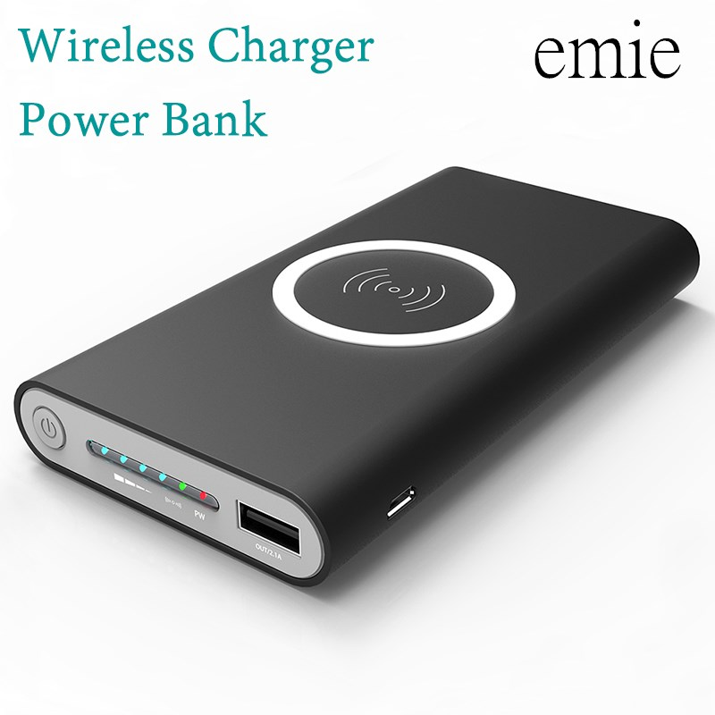 20000 mah Powerbank Carregador de Bateria Externa Banco de Potência de carga rápida Sem Fio Portátil Carregador do telefone Móvel para o iphone 8 plus 8 X