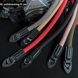 Image 1 - Mountaineering Nylon Rope Camera Shoulder Neck Strap Belt for Mirrorless Digital Camera Leica Canon Nikon Olympus Pentax Sony