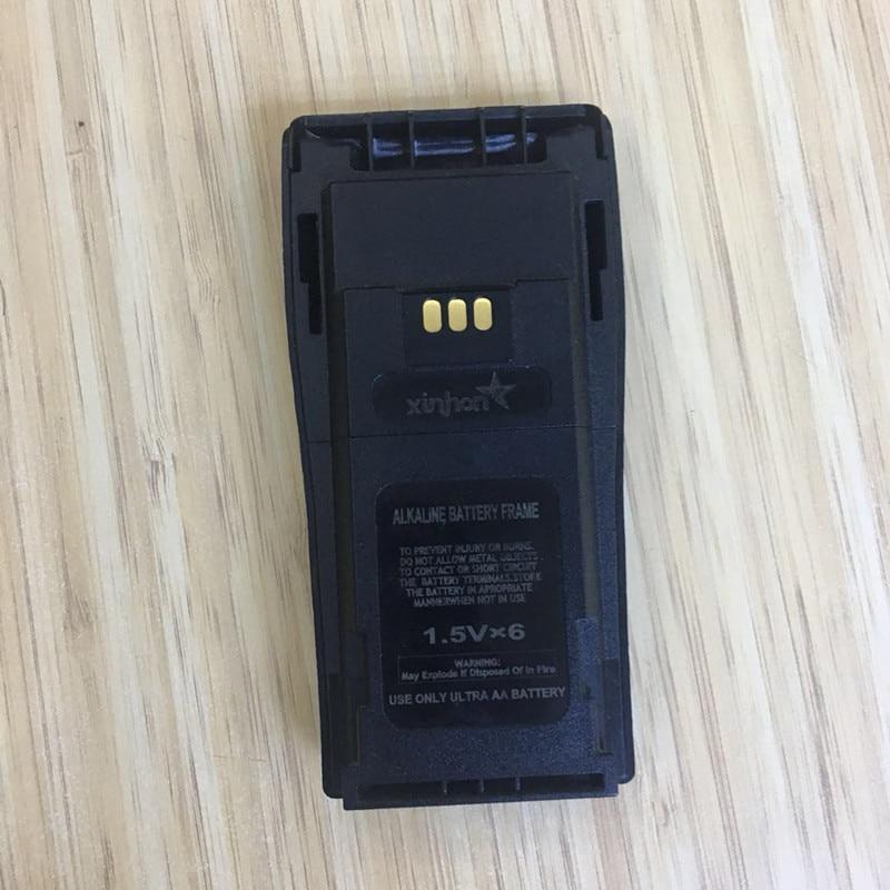 2X 6AA Battery Case Box For Motorola DEP450 DP1400 PR400 CP140 CP040 CP200 EP450 CP180 GP3188 Etc Wakie Talkie With Belt Clip