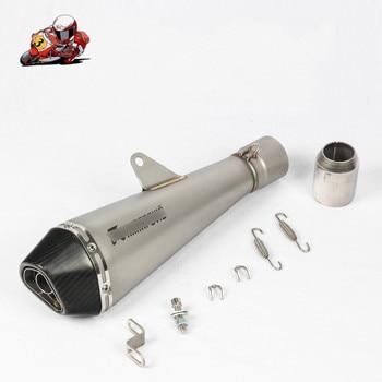 Silenciador de escape de motocicleta Universal 51MM fibra de carbono con asesino de DB para CBR300 R6 R25 Z900 ER6N GSXR750R KTM390 R3 BN600 NK650