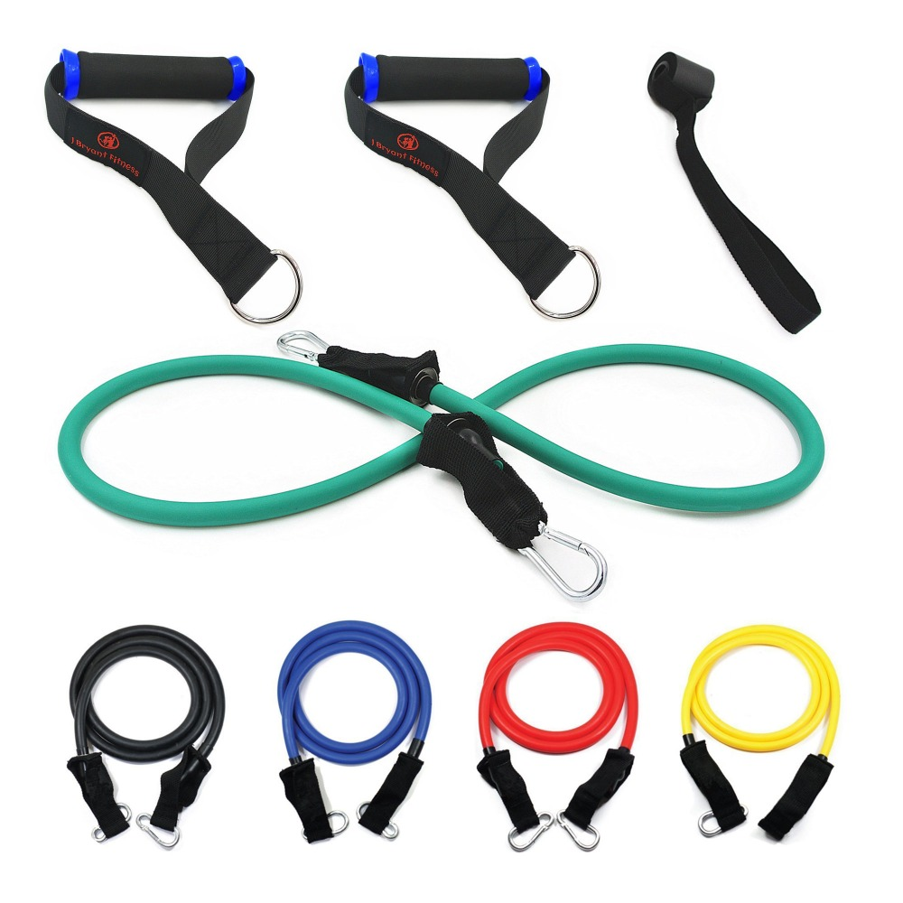 Pull Elastic Rope Fitness Crossfit Resistance Tube Bands Set Premium Quality Rubber Latex Bands For Weights Exercise Training fitness exercise training latex elastic pull ropes with accessories set of 5