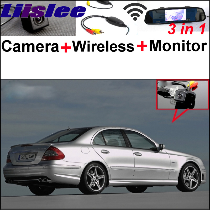 Special WiFi Camera + Wireless Receiver + Mirror Monitor 3in1 Easy DIY Parking System For Mercedes Benz MB E Class W211 liislee for mercedes benz cl mb w216 cls w218 special camera wireless receiver mirror screen 3in1 backup parking system