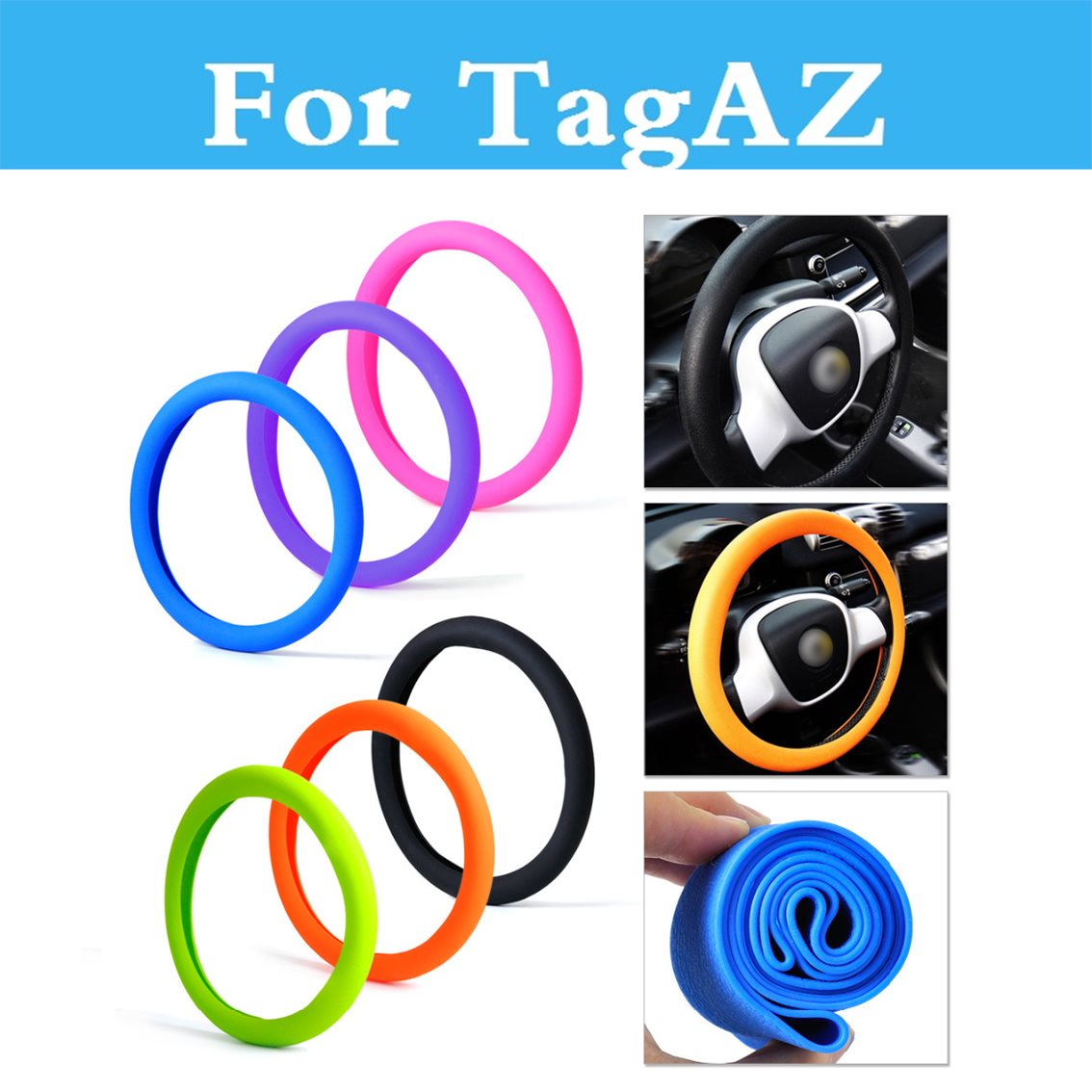 Car Auto Silicone Steering Wheel Glove Cover Steering Covers Accessories For TagAZ C10 C190 C-30 Road Partner Tager Vega Aquila