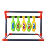 NFSTRIKE Y1803 Sports Competitive Game Bowling Beanbag Throwing Set with 4Pcs Earthbags Outdoor Sports Toys for Kids Boys 2019