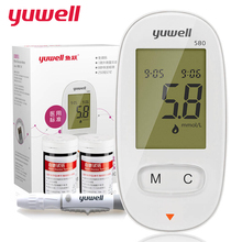 Фотография yuwell Glucose Meters with 50pcs strips 50pcs Lancets Needles Electronic Blood Glucose Meter blood sugar detection