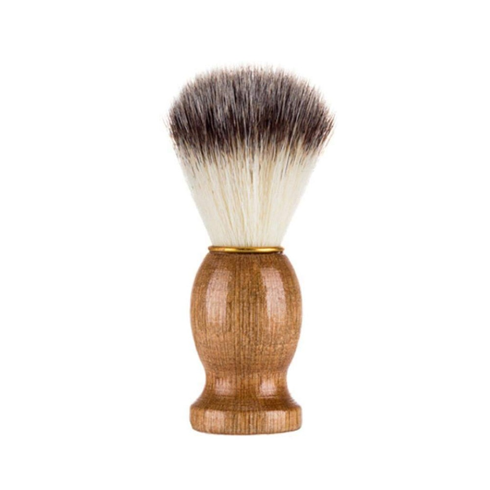 Portable Badger Hair Men Shaving Beard Brush Salon Facial Beard Cleaning Appliance Shave Tool Razor Brush Bristle Wood Handle