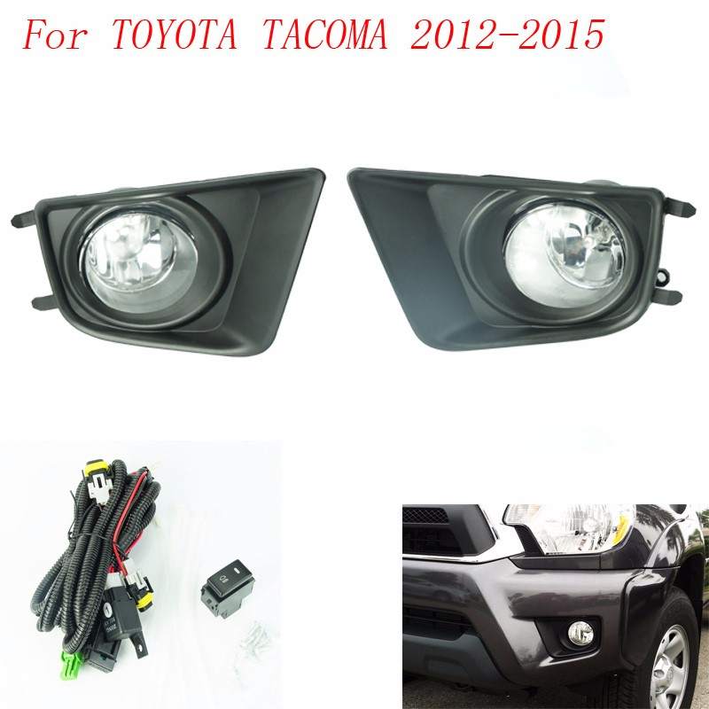 CNSPEED Fog light for Toyota Tacoma 2012-2015 fog lamps Clear / yellow Lens Bumper Fog Lights Driving Lamps cnspeed fog light for toyota sienna 2011 2012 2013 2014 2015 fog lamps clear yellow lens bumper fog lights driving lamps t100595