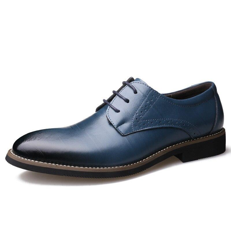 Gratis Cuero Al Menor Mayor Cuatro Black Fabricantes Los Nueva Encaje Negocios Y Por Zapatos Vestir Estaciones Hombres yellow De Moda blue qTzqwCSf7