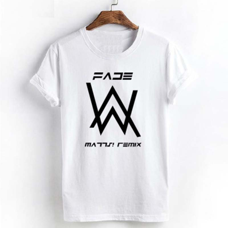 Electronic Music DJ Jockey Divine Comedy Rock Star Alan Walker T Shirt Brand Cotton T-shirt Faded Song letter print tshirt