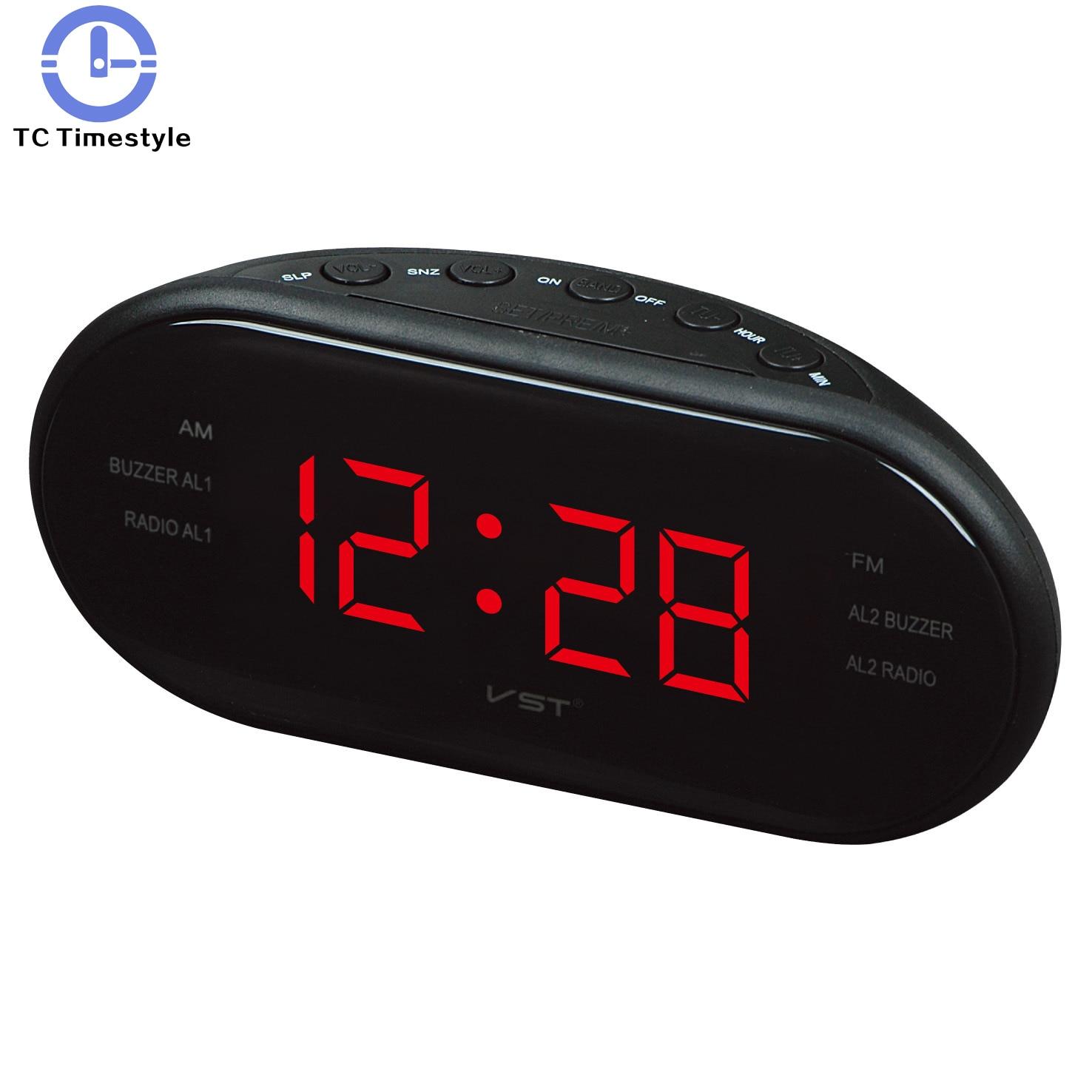 Led Camera Da Letto us $19.26 14% off|led alarm clock radio watch electronic table reveil  electronic alarm clocks office decoration desk sveglia camera da  letto|alarm