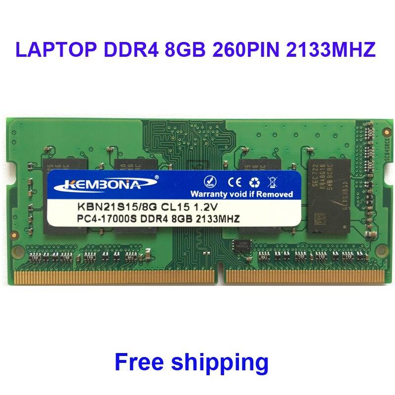 Kembona mémoire sodimm ordinateur portable ddr4 8 gb 8g 2133 MHz pc-17000 ram entièrement compatible 260pin 2666 MHZ pc-21300