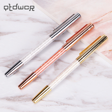 Cute Kawaii Diamond Metal Ballpoint Pen Crystal Ballpoint Pens for Kid Gift Office Supplies Gold Silver Rose Gold(China)