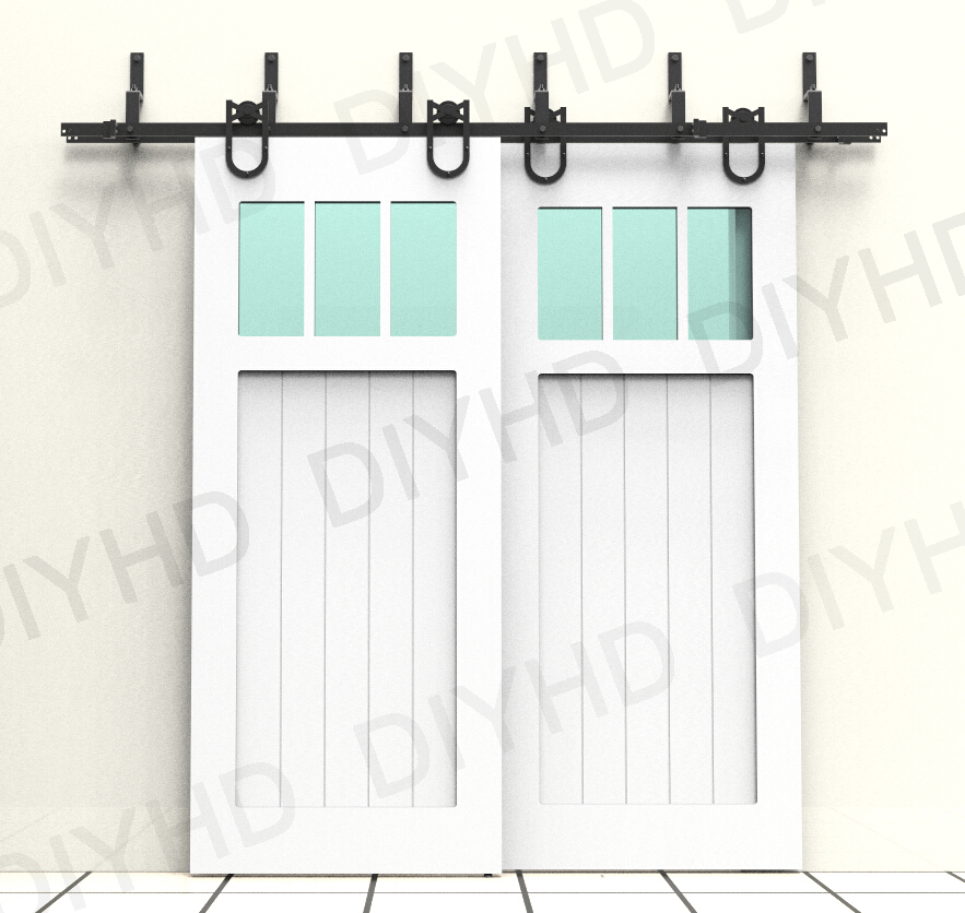 DIYHD 5.5ft 10ft Horseshoe Bypass Sliding Barn Wood Closet Door Rustic  Black Barn Door Track Hardware In Slides From Home Improvement On  Aliexpress.com ...
