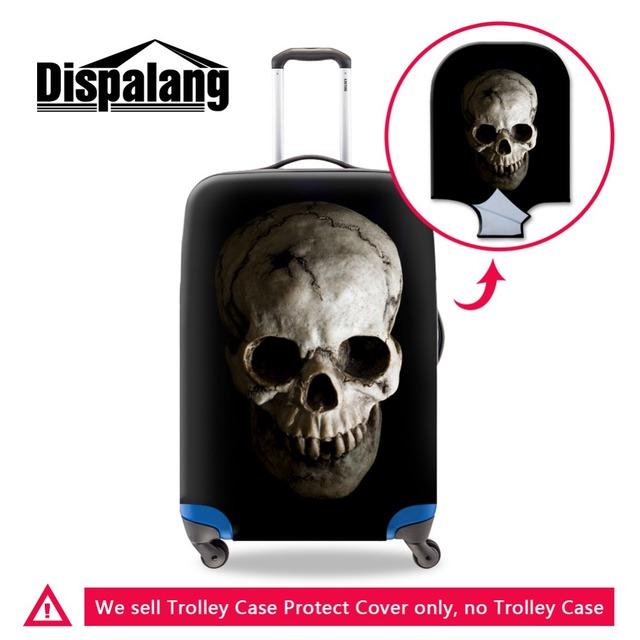 Bagagem do trole do crânio Claro capas protetoras protetor de cobertura legal cobertura de bagagem mala de viagem de poliéster elástico para adultos
