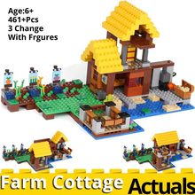 My world The Farm Cottage 461PCS Compatible legoinglys minecrafts 21144 house model building kit Blocks Bricks toys for children(China)