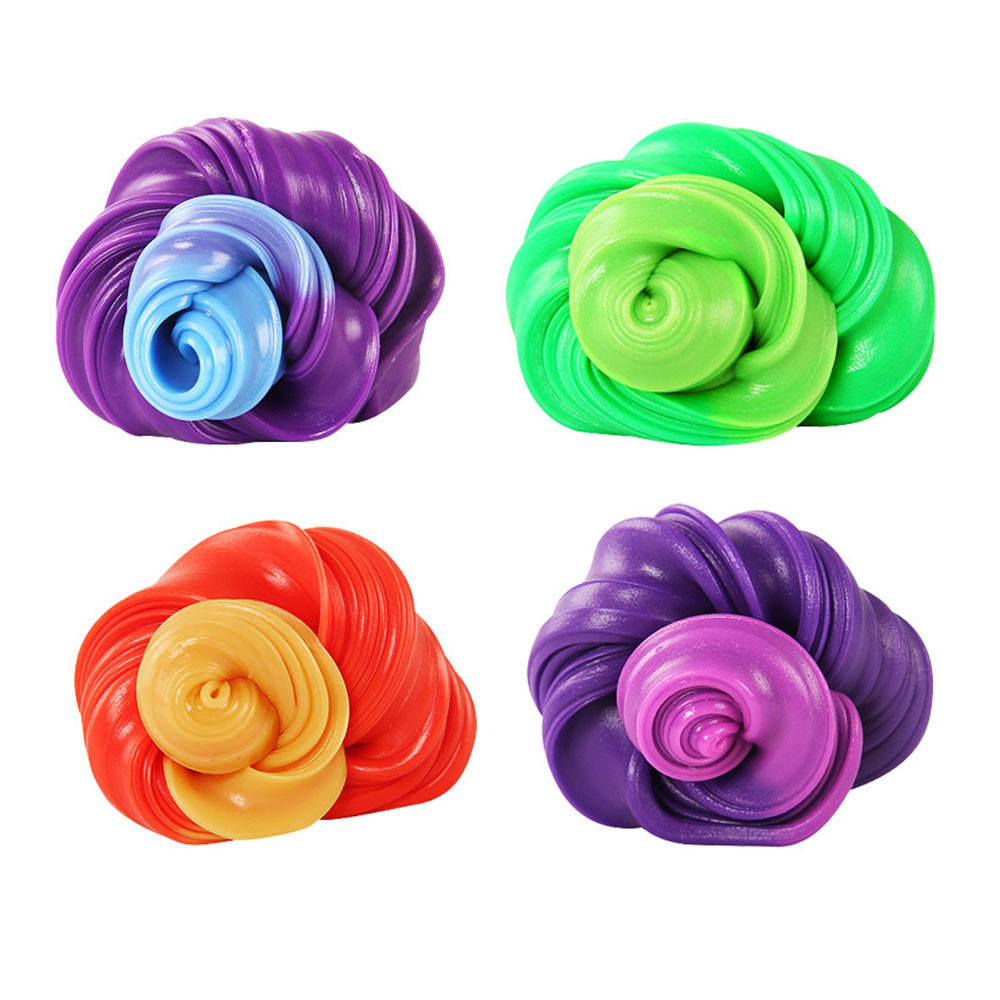 Fluffy Floam Slime DIY Heat Discoloration Rubber Mud Slime Scented Tub Stress Relief No Borax Kids Sludge Toy Fun