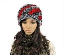 Всего в 6 доллар настоящее рекс кролика Зима женский волос меха шляпа женский осенью и зимой ухо велоспорт крышка вязаная шапка северо-восток cap