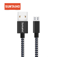 Micro USB Cable Suntaiho 5V2 4A Nylon Braided Fast Charging Mobile Phone Micro USB Charger Cable