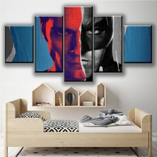 цена Wall Art Home Deocrative One Set Modular Picture Framework 5 Panel Batman v Superman Dawn of Justice Movie Poster Canvas Print онлайн в 2017 году