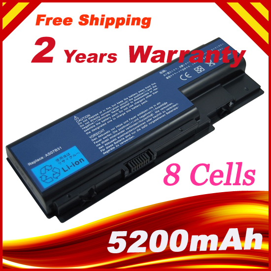 14.8V 5200mAh 8 Cells Laptop battery for <font><b>ACER</b></font> <font><b>Aspire</b></font> 7540G 7720G 7720Z 7730G 7530G 7738G <font><b>7736ZG</b></font> 8730ZG 8930G image