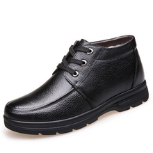 2019 New Luxury Mens Ankle Boots Shoes Formal Shoes Black Brown Winter Warm Genuine Leather Flat Lace Up Shoes DA037 2016 luxury brand mens high top flats shoes vintage full leather lace up ankle boots tialian handmade elegant mens formal shoes