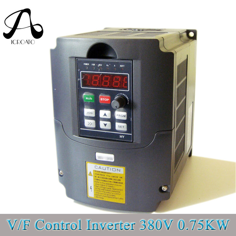 Free Shipping ICROATO VFD 4kw 3PHASE INVERTER 4kw 380V inverter Variable Frequency Drive VFD