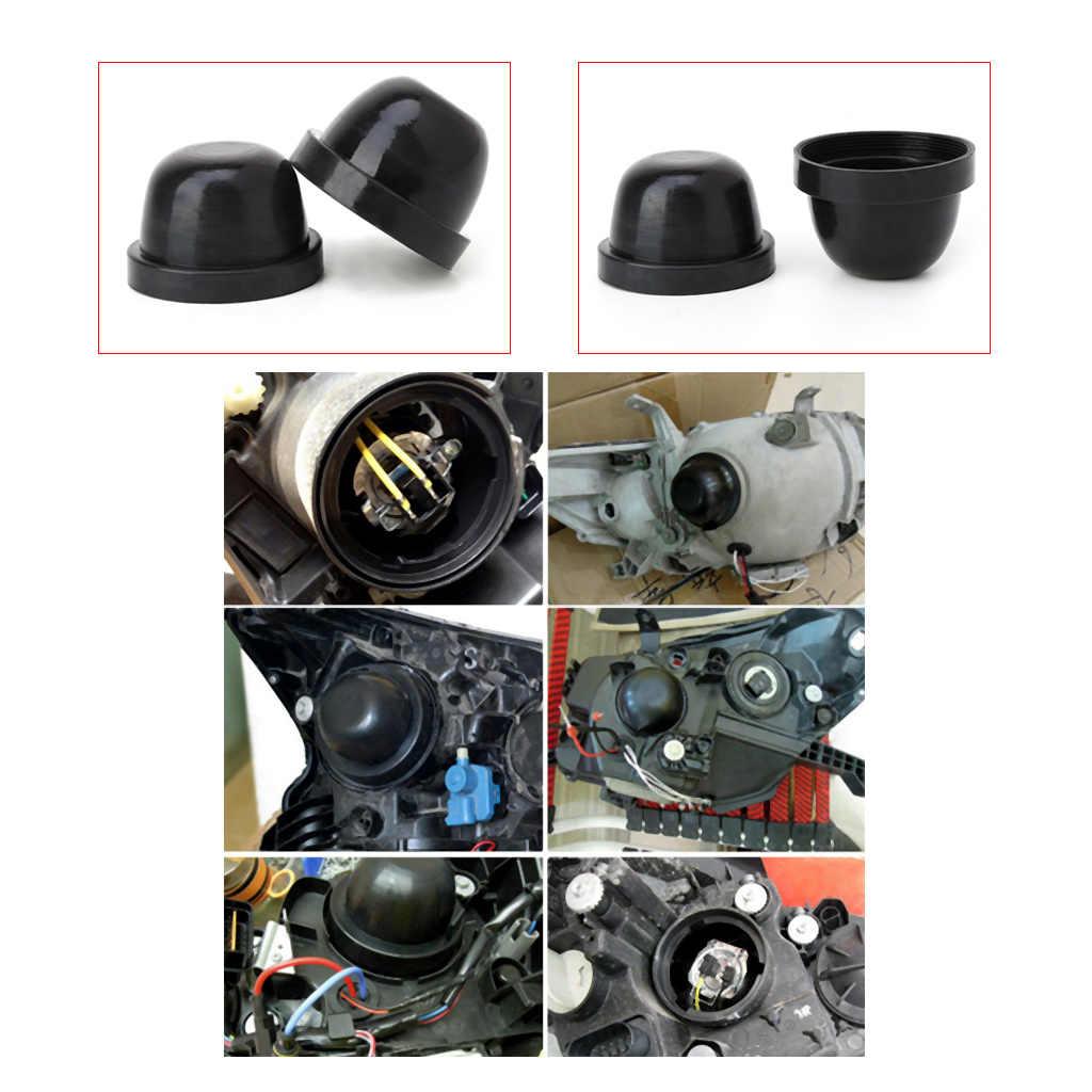 HID LED Headlight Car Dust Cover Rubber Waterproof Dustproof Sealing Headlamp Cover Car Styling Accessories DIY Retrofit Work