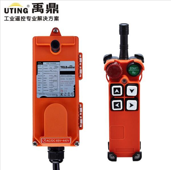 TELECRANE Wireless Industrial Remote Controller Electric Hoist Remote Control 1 Transmitter + 1 Receiver F21-4S nice uting ce fcc industrial wireless radio double speed f21 4d remote control 1 transmitter 1 receiver for crane