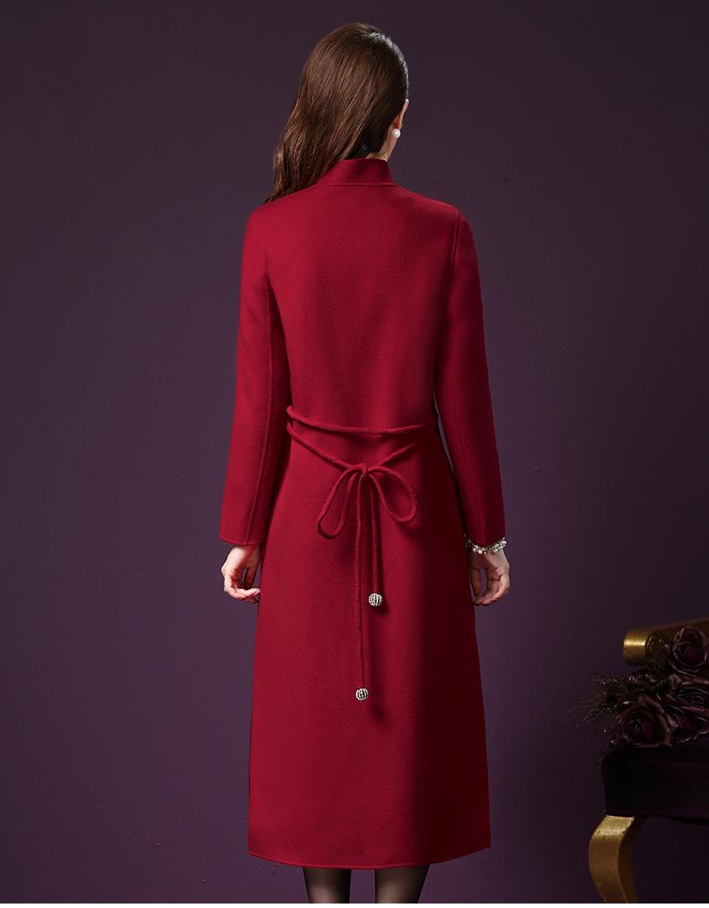 Vintage długi wełniany płaszcz 8
