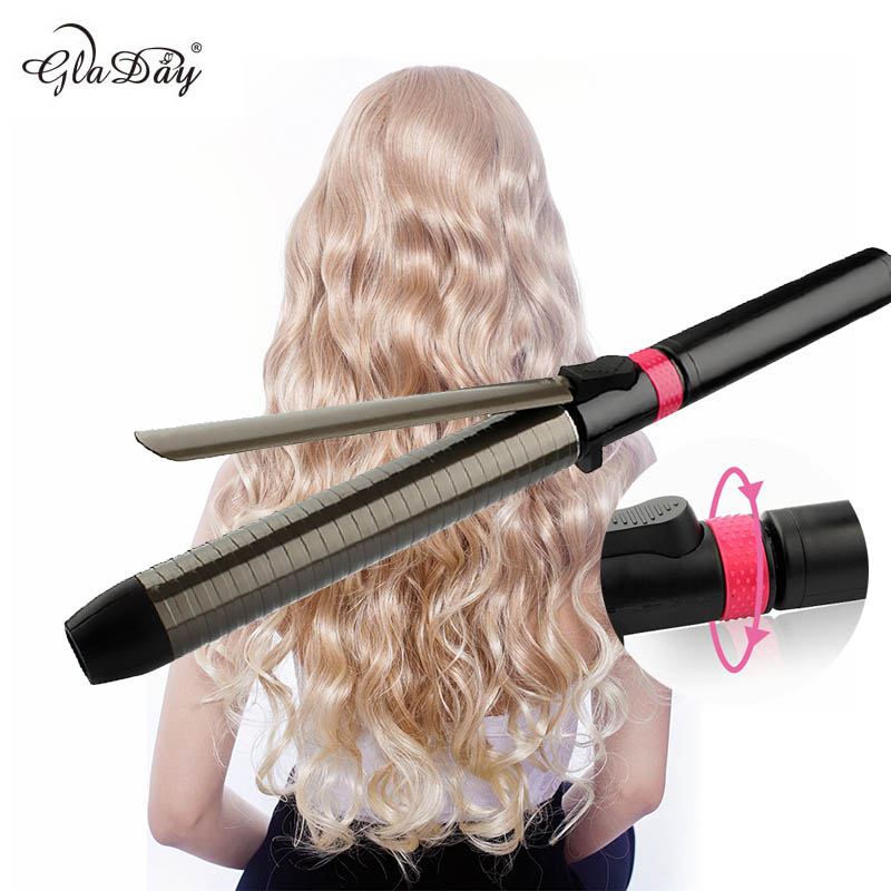 Professional Salon Ceramic coating curling iron temperature adjustment Wand curler hair curling irons hair curler styling tools automatic hair steam curler ceramic curling iron wand salon professional auto rotating styling steamer spray curl spiral machine