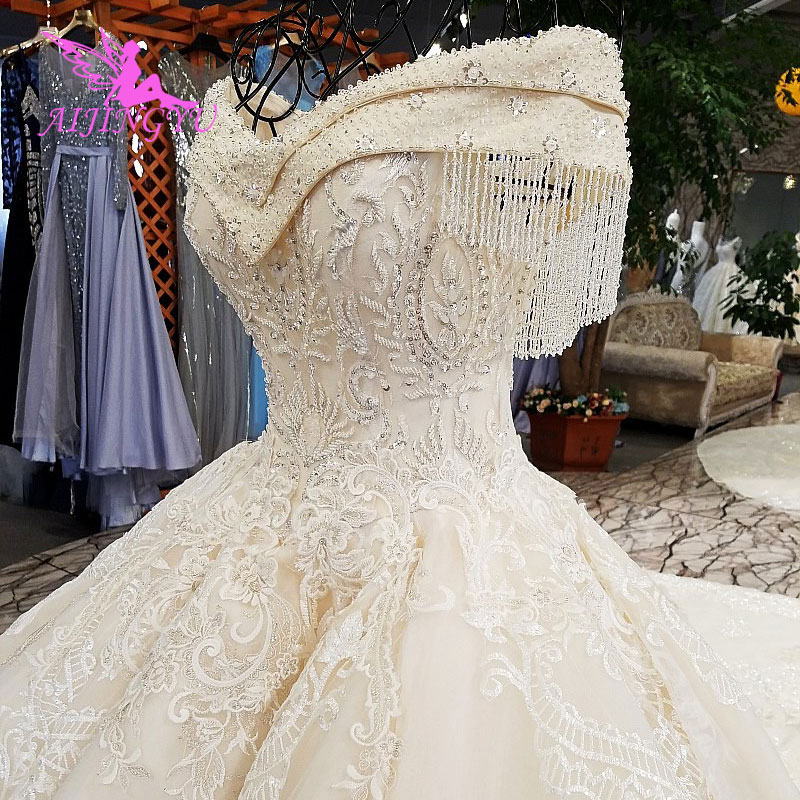 Image 3 - AIJINGYU Real Photo Wedding Dresses Bridal Gown Shop 2018 Made In China Popular Boho Designer Gowns Wedding Dress OutletWedding Dresses   -