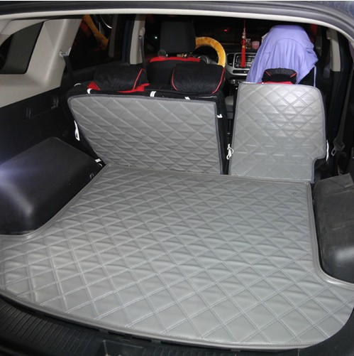 pu leather 5 7 seats car rear trunk mats backrest pad for new carens waterproof wear resisting. Black Bedroom Furniture Sets. Home Design Ideas