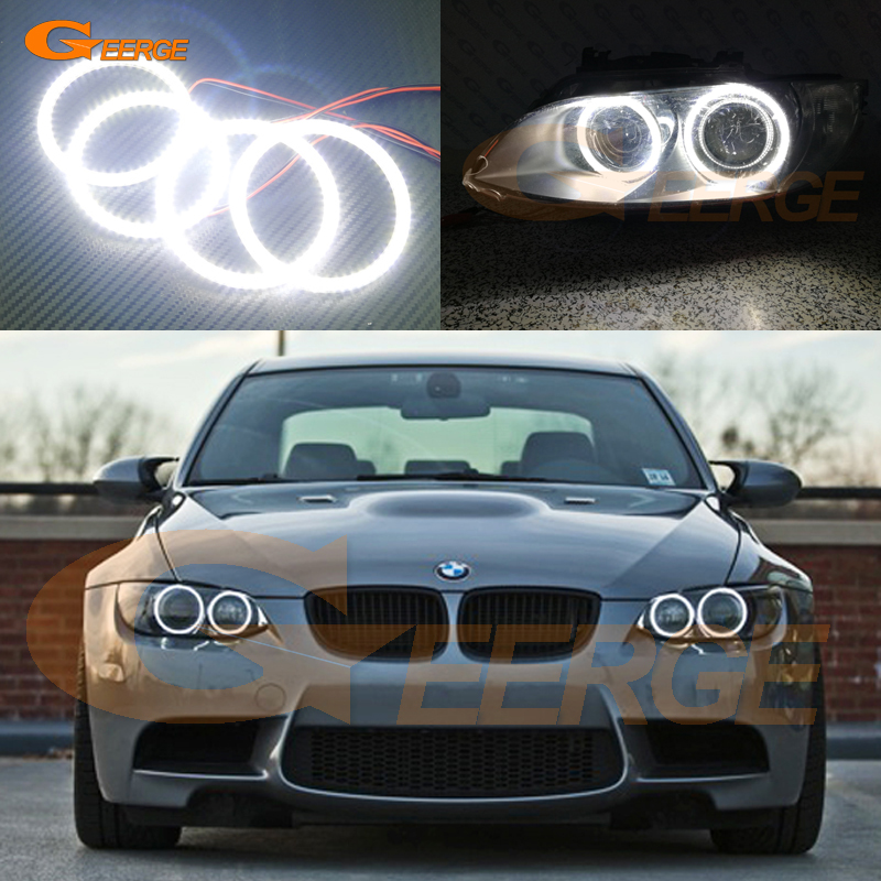 For BMW 3 Series E90 E92 E93 M3 2007-2013 Coupe cabriolet Excellent Ultra bright illumination smd led Angel Eyes Halo Ring kit bmw m3 e30 coupe