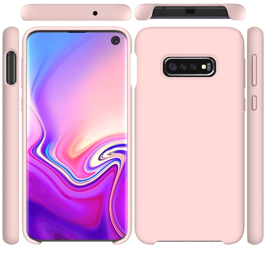 For Samsung Galaxy S10 6.1 Inch Ultra-Thin Silicone Leather Soft Case Cover TPU Case Candy Color Back Cover Frosted Anti-Slip