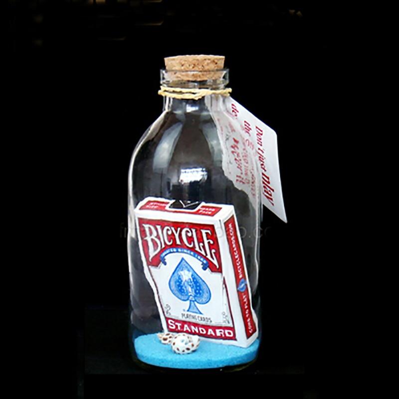 Carte magique en bouteille dérive souhait bouteille magique