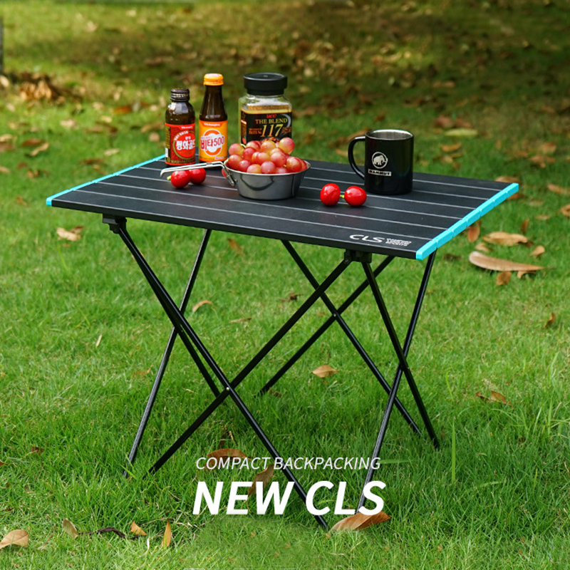 Portable Table Foldable Folding Camping Hiking Desk Traveling Outdoor Picnic  Al Alloy Ultra-light Travel Table For Wild Camping