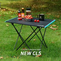 Portable Table Foldable Folding Camping Hiking Desk Traveling Outdoor Picnic Al Alloy Ultra light Travel Table for Wild Camping