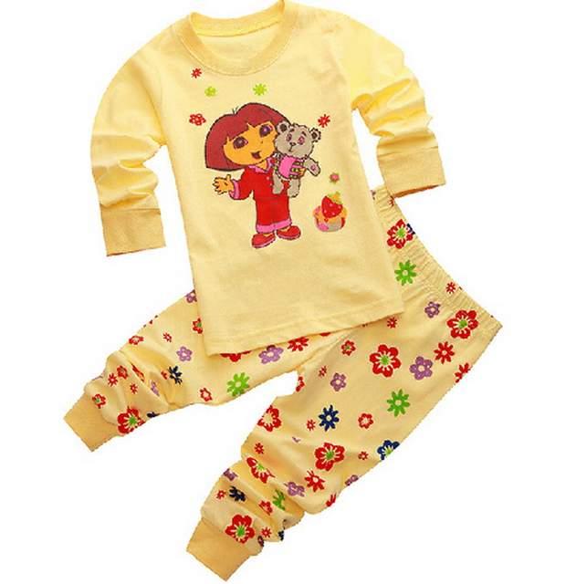 815863e37b56 Online Shop kids girls pajamas sets Snow White Princess pyjamas kids ...